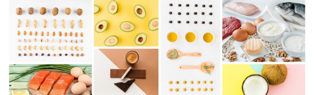 in questa immagine sono presenti alcuni ingredienti tipici della dieta chetogenica